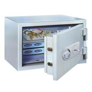 Rottner feuersicherer Papiersicherungsschrank EN1 SuperPaper 50 Premium Doppelbartschloss weißaluminium
