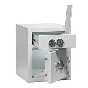 Rottner Schubladentresor baugleich EN1 I/ 120 Doppelbartschloss lichtgrau