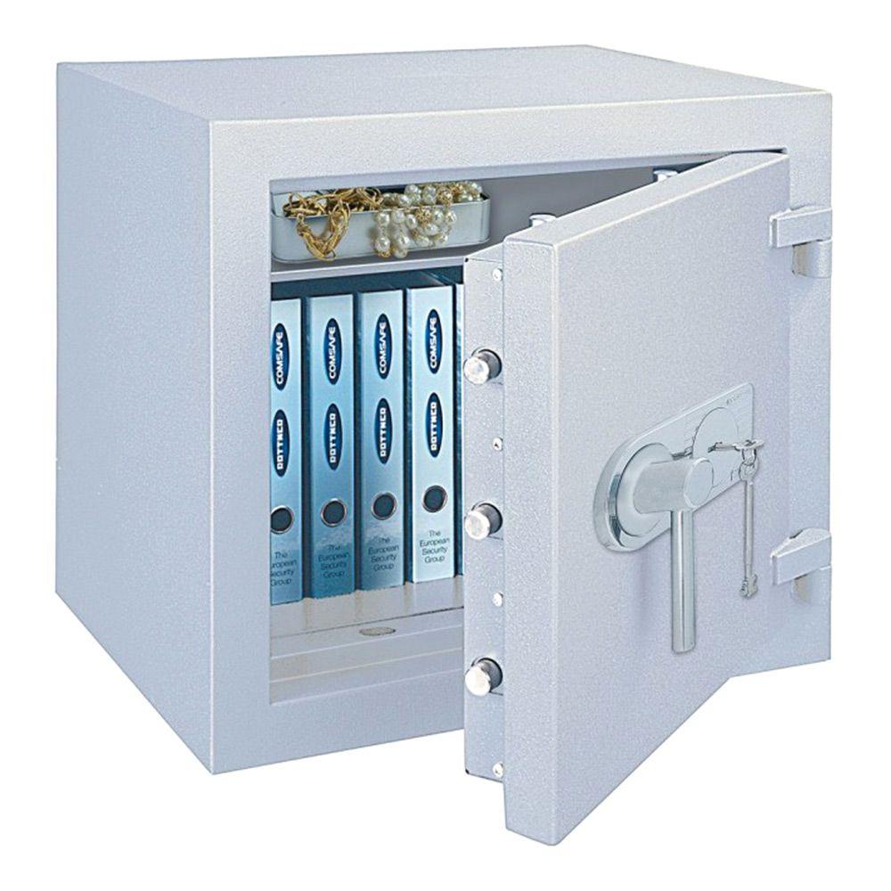 Rottner Diamant Fire Premium PO 50 Safe Key Lock Light Grey