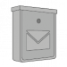 Mailboxes silver and gray